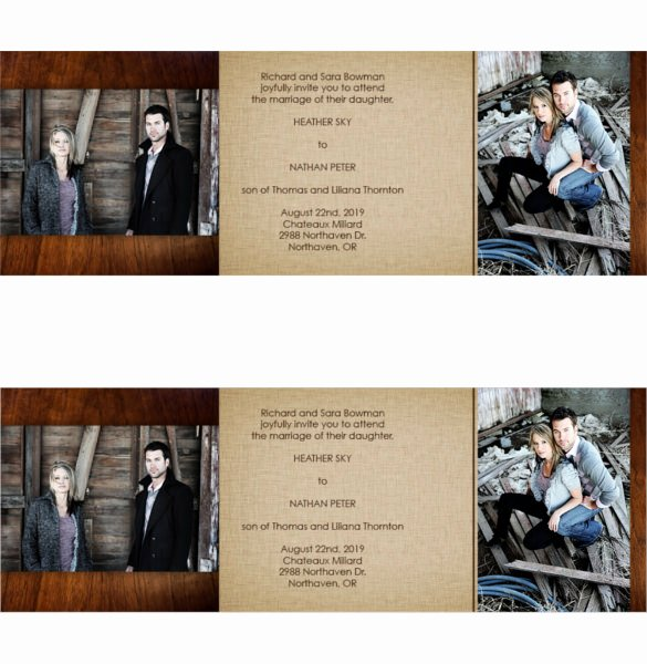Tri Fold Invitations Template Best Of 19 Trifold Wedding Invitation Templates – Free Sample