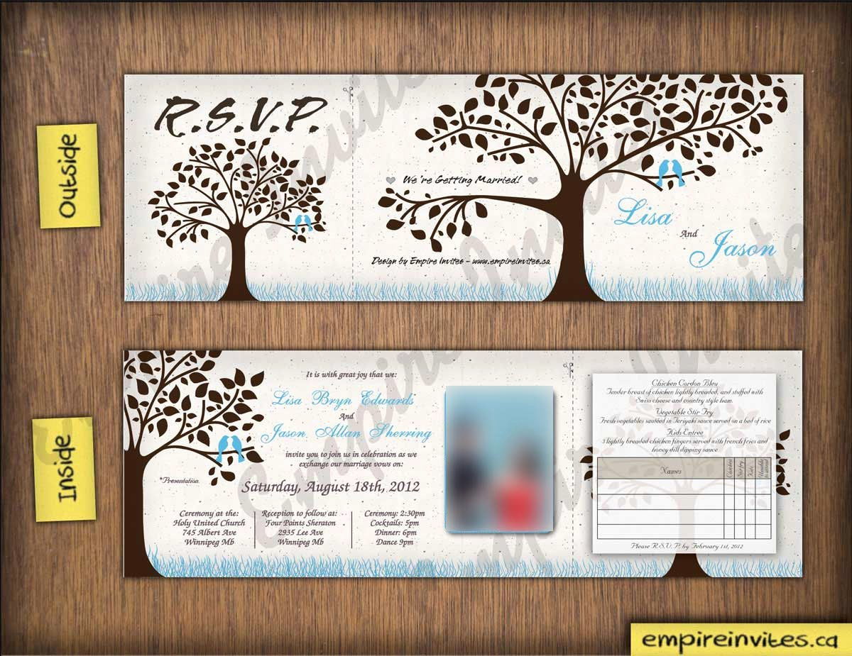 Tri Fold Invitations Template Best Of Custom Love Bird Wedding Invitations From Winnipeg Canada