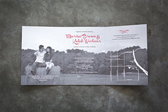 Tri Fold Invitations Template New 19 Trifold Wedding Invitation Templates – Free Sample