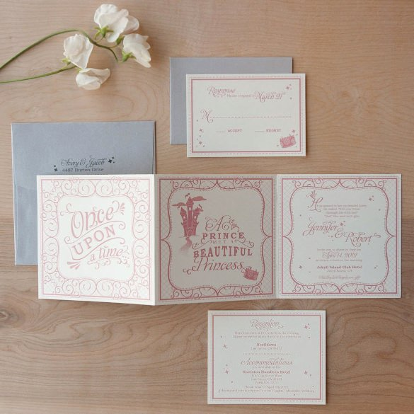 Tri Fold Invitations Template Unique 12 Tri Fold Wedding Invitation Templates Psd