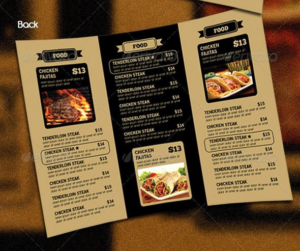 Tri Fold Menu Template Awesome 14 Great Tri Fold Restaurant Menu Psd Templates