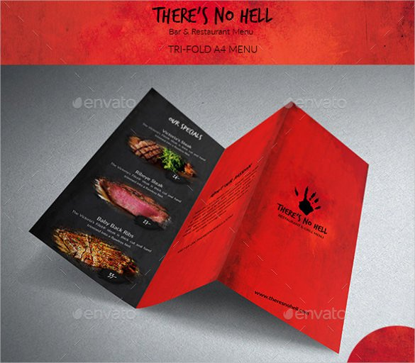 Tri Fold Menu Template Beautiful 22 Tri Fold Menu Templates – Free Sample Example format