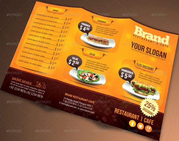 Tri Fold Menu Template Beautiful 51 Restaurant Menu Templates Design Psd Docs Pages
