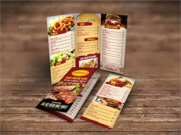 Tri Fold Menu Template Best Of 19 Menu Templates