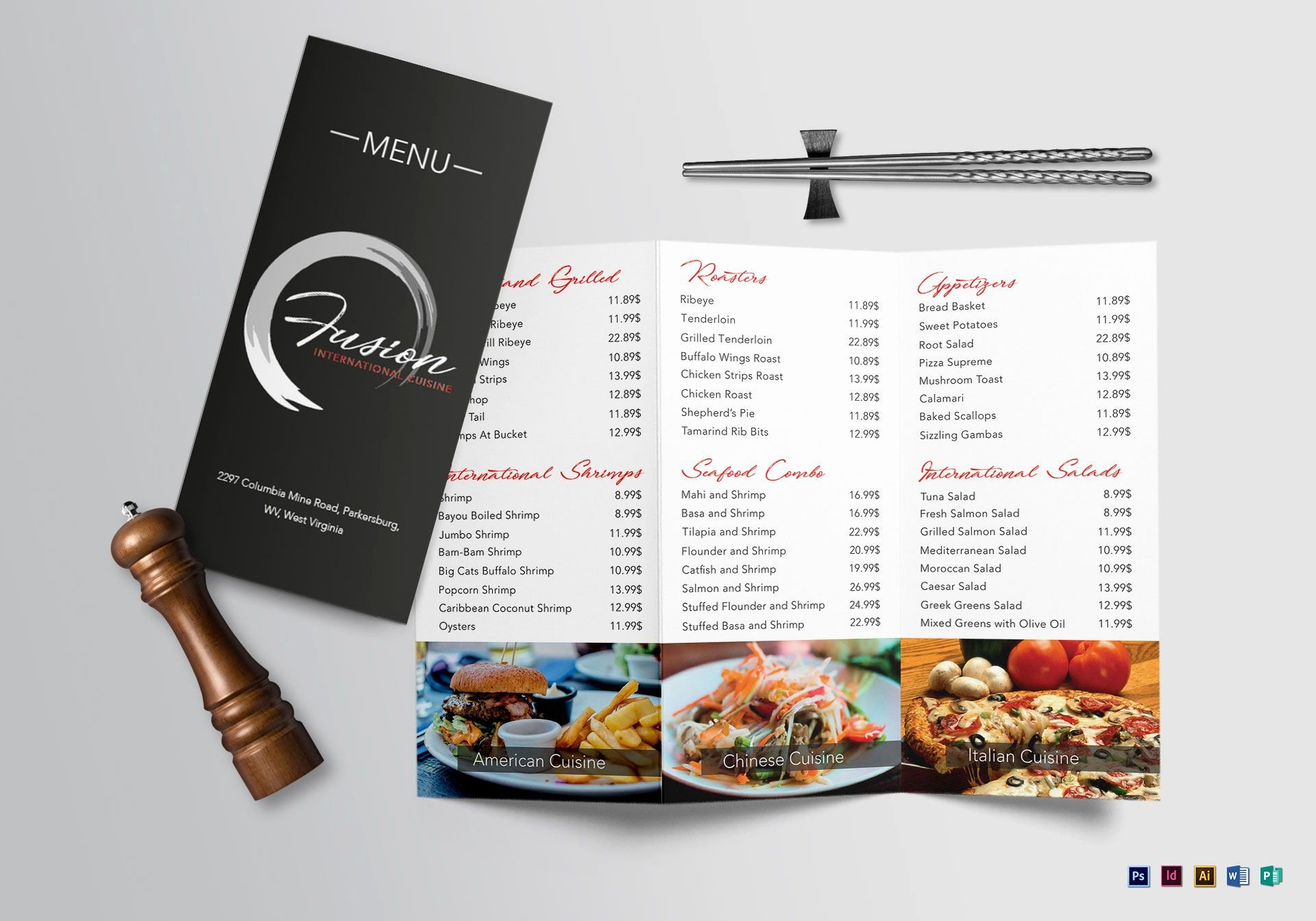 Tri Fold Menu Template Best Of Cuisine Tri Fold Menu Design Template In Psd Word