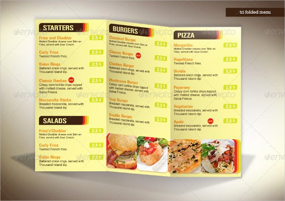 Tri Fold Menu Template Fresh 22 Tri Fold Menu Templates – Free Sample Example format