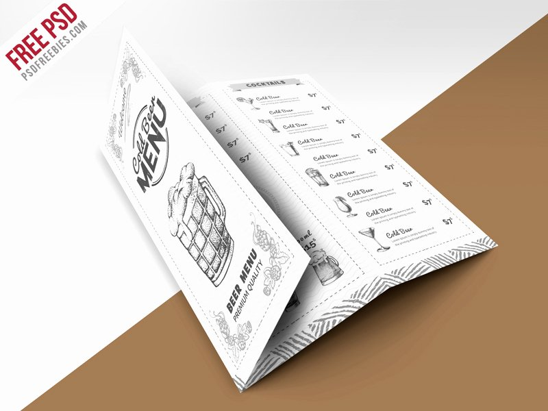Tri Fold Menu Template Luxury 69 Premium and Free Psd Tri Fold & Bi Fold Brochures