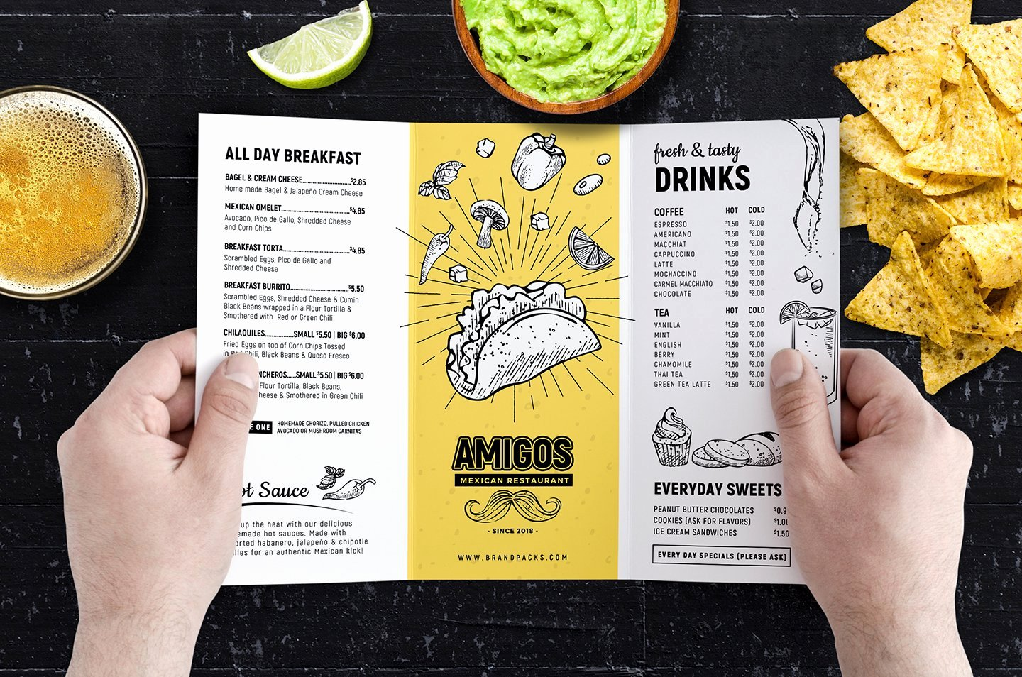 Tri Fold Menu Template Luxury Tri Fold Mexican Menu Template Brochure Templates