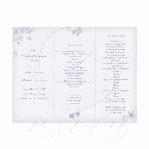 Tri Fold Program Template Awesome Lavender Art Tri Fold Wedding Program Template