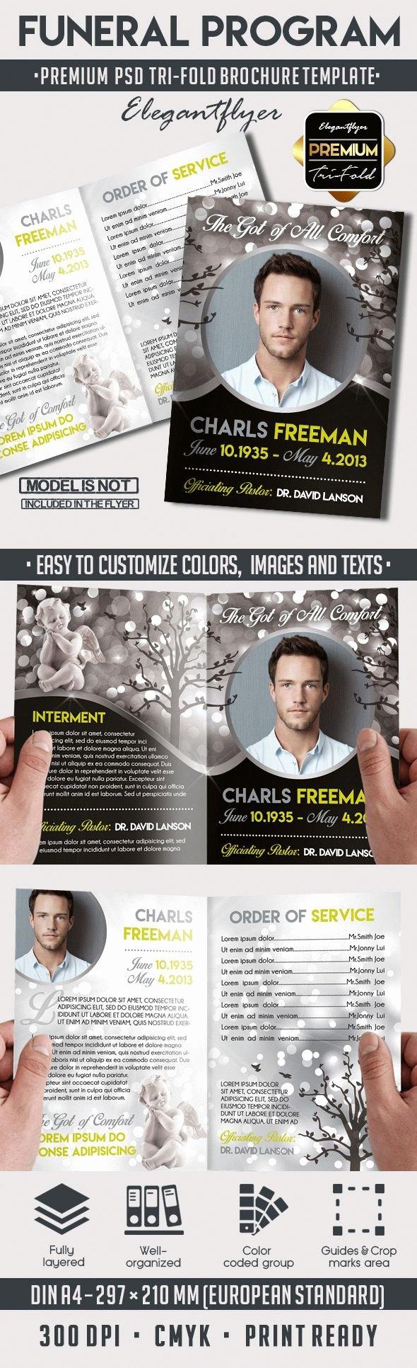 Tri Fold Program Template Best Of Elegant Memories Funeral Program Brochure – by Elegantflyer