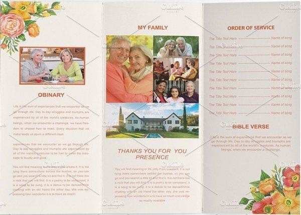 Tri Fold Program Template Elegant 17 Funeral Program Templates
