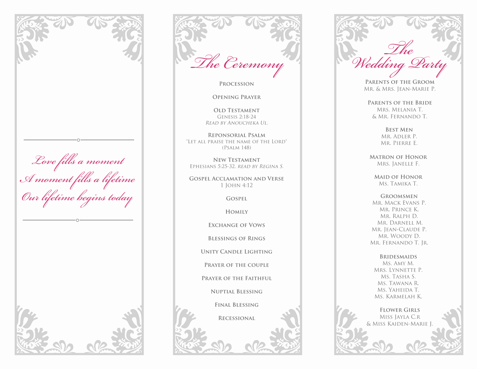 Tri Fold Program Template Elegant 28 Of 2 Fold Wedding Program Template Free