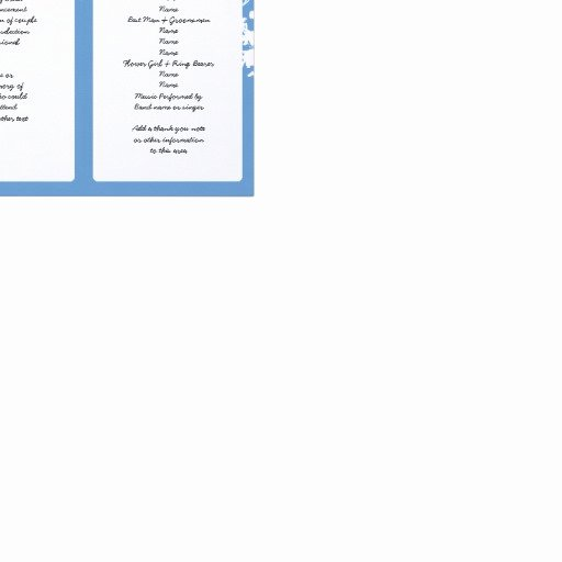 Tri Fold Program Template Elegant Out Tree Blue Tri Fold Wedding Program Template