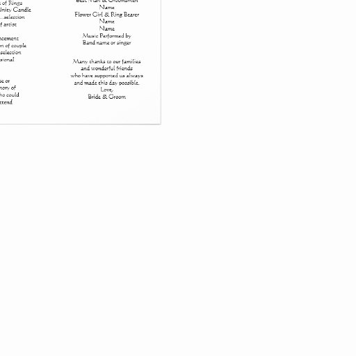 Tri Fold Program Template Elegant White Tri Fold Template Wedding Program Letterhead