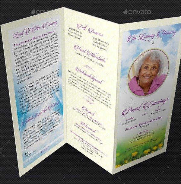 Tri Fold Program Template Inspirational 14 Funeral Memorial Program Templates Psd Ai Vector