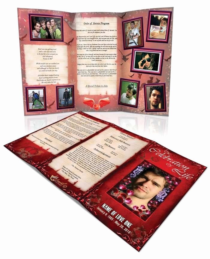 Tri Fold Program Template Luxury 43 Best Images About Obituary Template On Pinterest