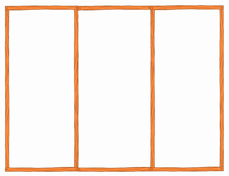 blank tri fold brochure template example