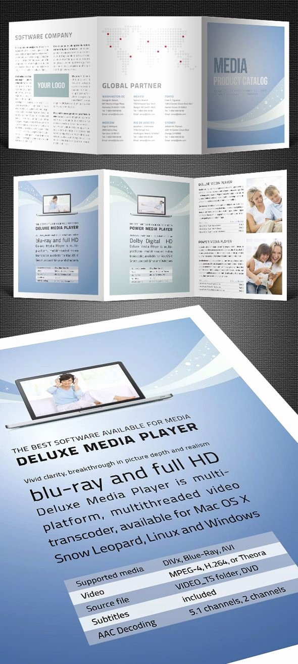 Tri Fold Template Indesign Elegant Tri Fold Catalogue Template Ysi Work