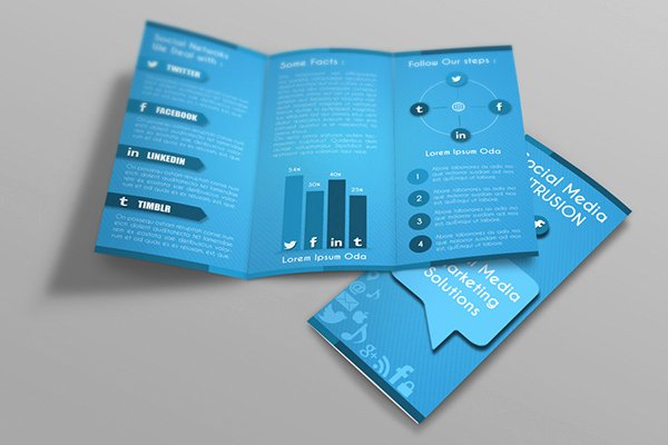 Tri Fold Template Indesign Luxury social Media Tri Fold Brochure Template On Behance