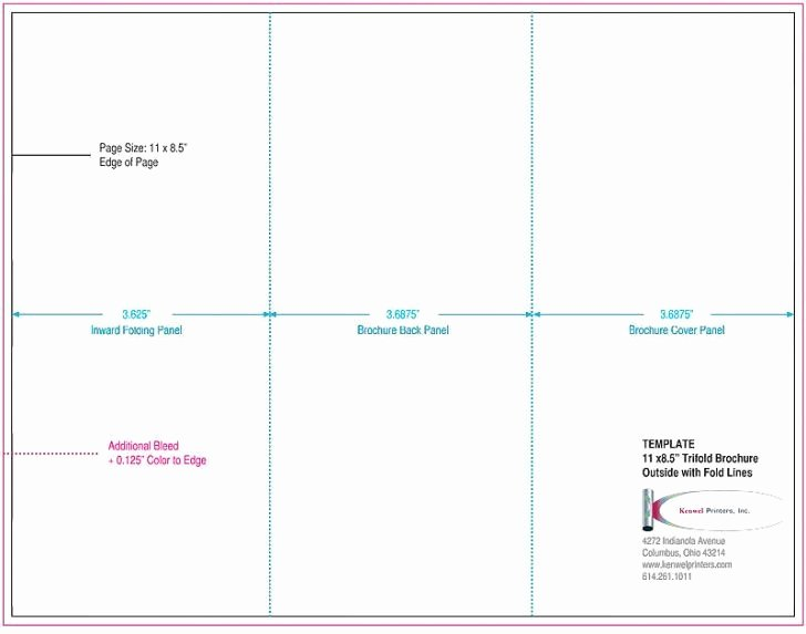 Tri Fold Template Indesign Unique Letter Folding Template 8 5 X 11 Tri Fold Brochure