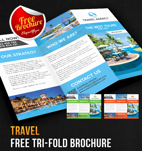 Tri Fold Template Photoshop Best Of 65 Print Ready Brochure Templates Free Psd Indesign & Ai