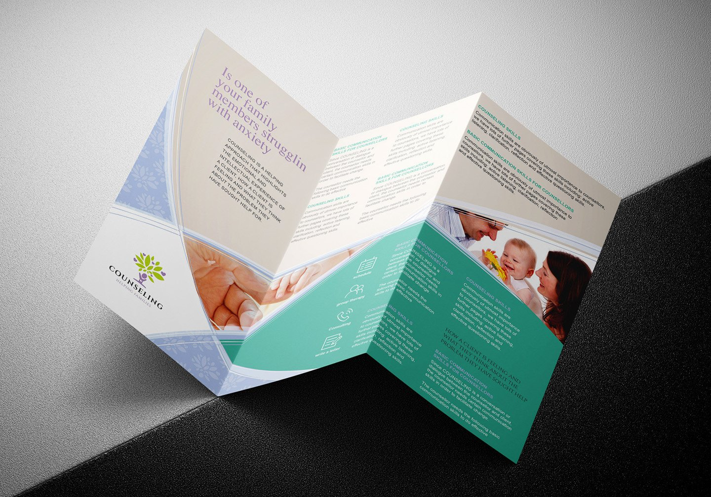 Tri Fold Template Photoshop Best Of Counselling Service Tri Fold Brochure Template In Psd Ai