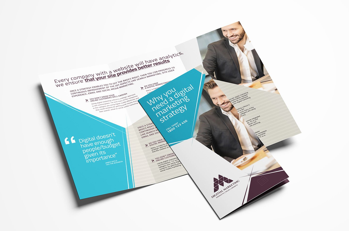 Tri Fold Template Photoshop Elegant Digital Marketing Tri Fold Brochure Template In Psd Ai