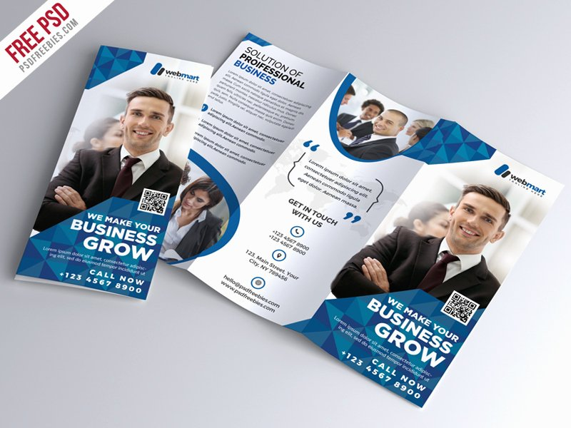 Tri Fold Template Photoshop Inspirational Corporate Tri Fold Brochure Free Psd by Psd Freebies