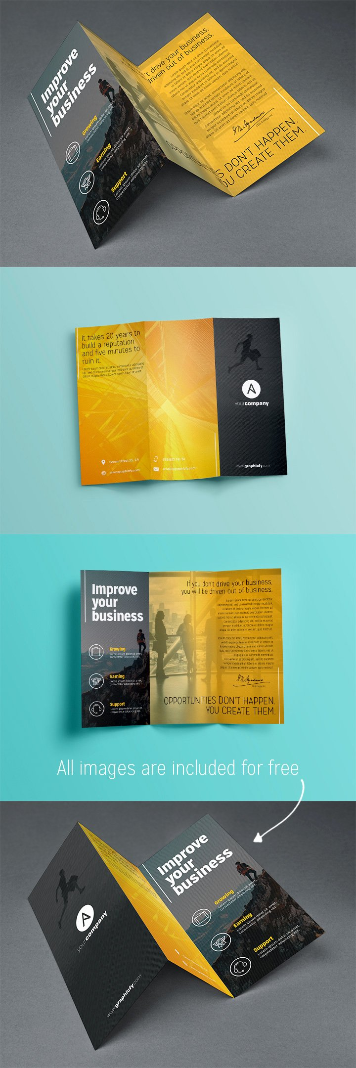 Tri Fold Template Photoshop Lovely Tri Fold Brochure Template Psd Brochure Templates