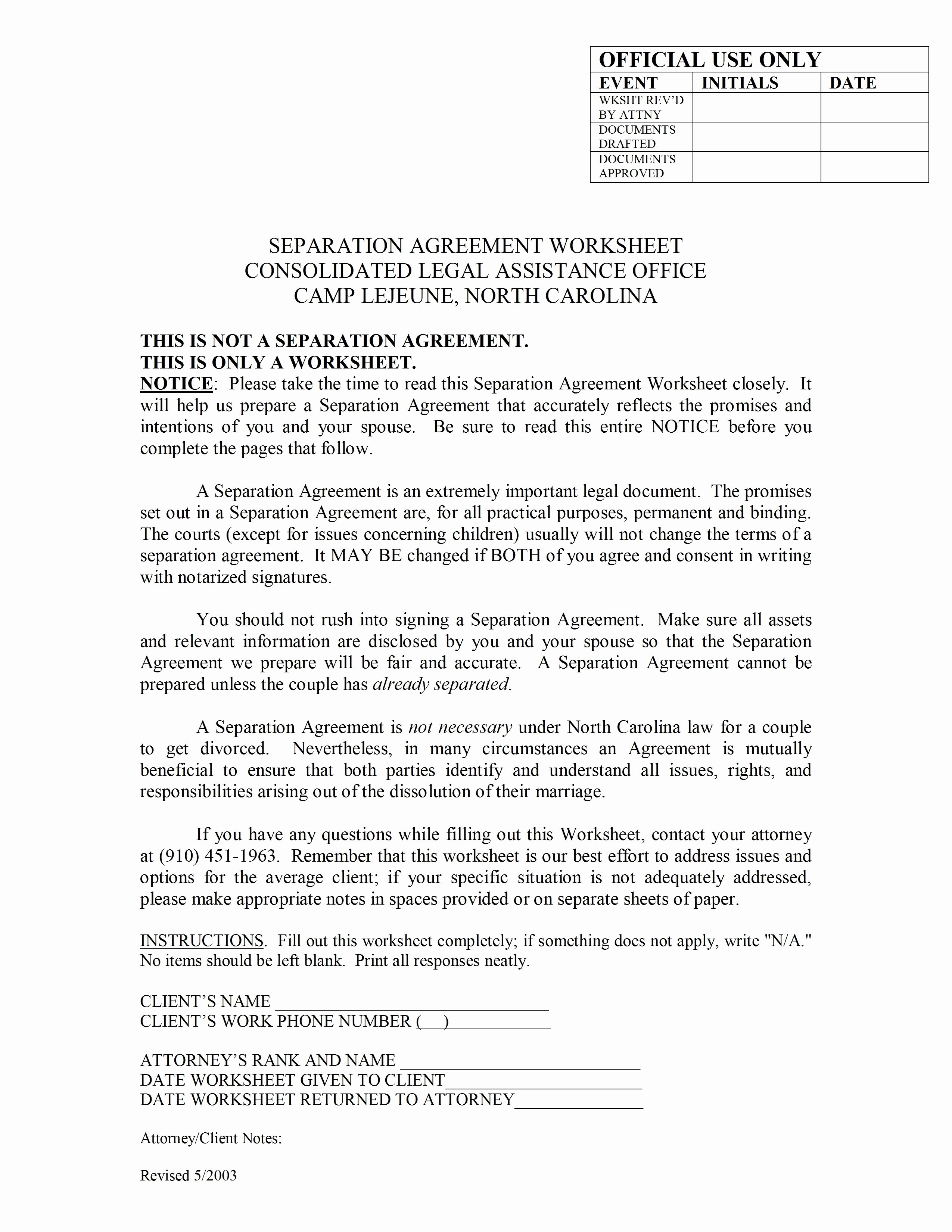 Trial Separation Agreement Template Inspirational 8 Example Of Legal Separation Agreement