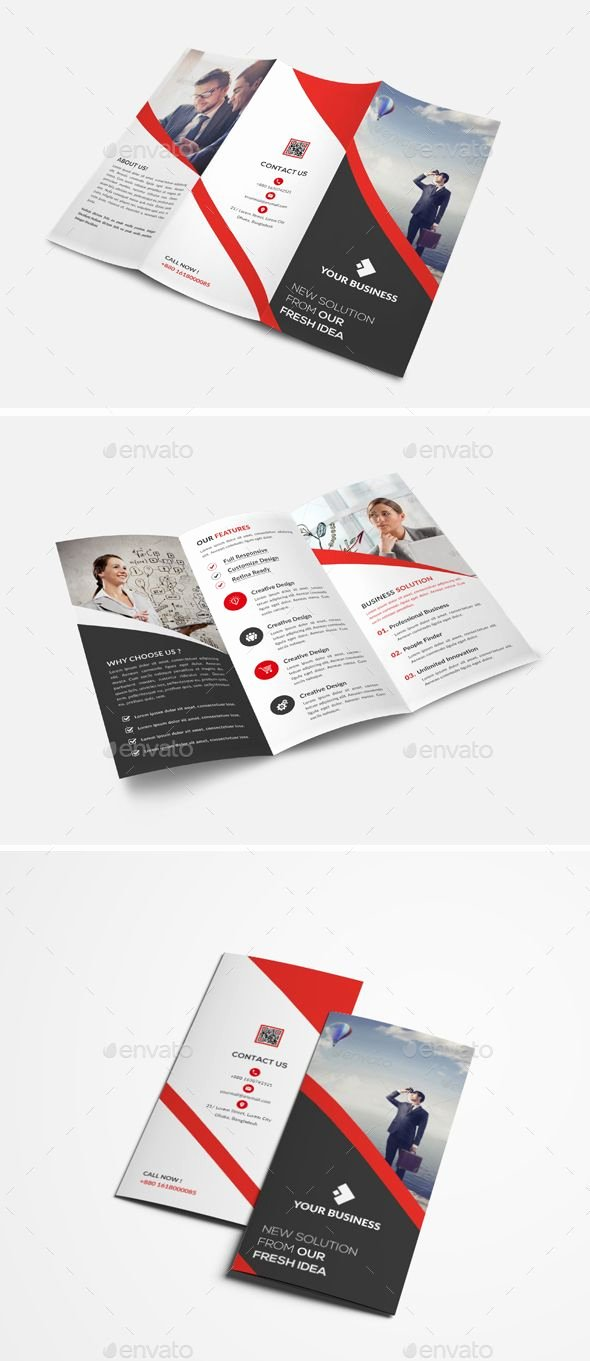 Trifold Brochure Template Illustrator Awesome Trifold Brochure