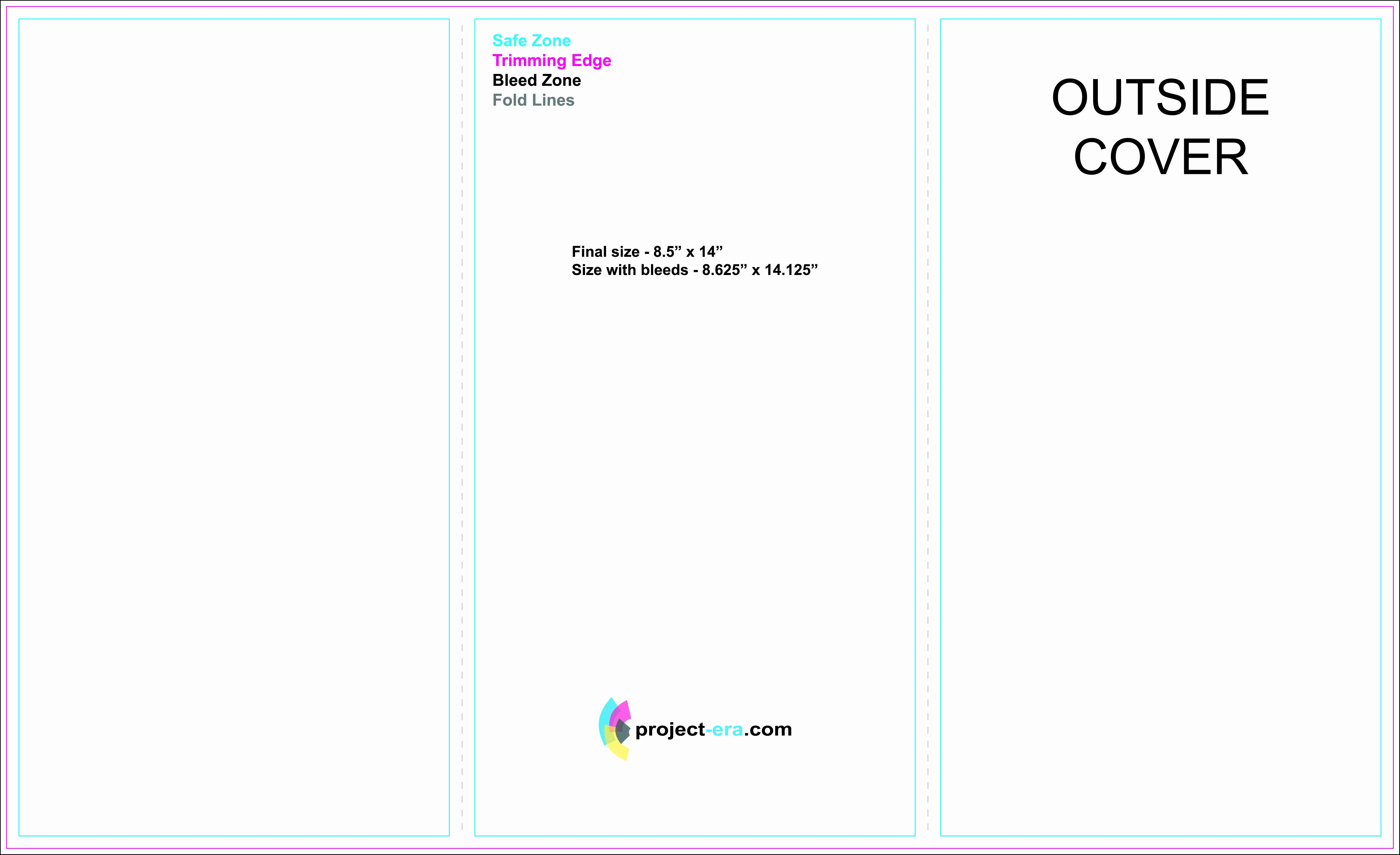 "Trifold Brochure Template Illustrator New Free Tri Fold Brochure Templates Based On 8 5"" X 14"" Paper"