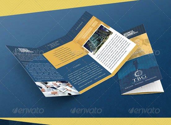 tri fold brochure photoshop template