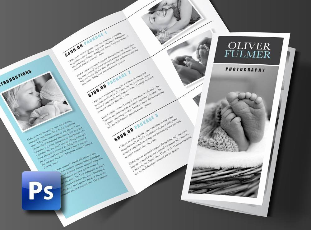 Trifold Brochure Template Photoshop Awesome Trifold Brochure Template Shop Template