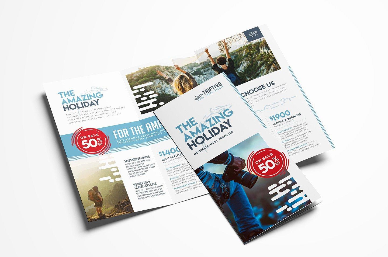 Trifold Brochure Template Photoshop Beautiful Travel Pany Trifold Brochure Brochure Templates
