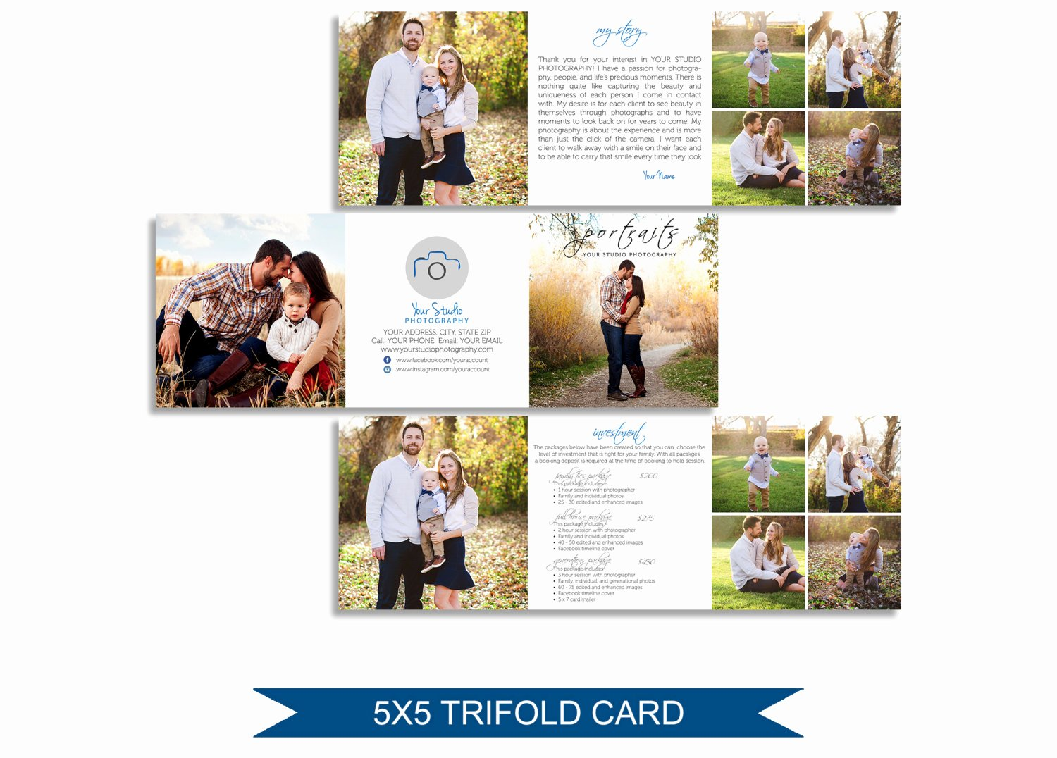 Trifold Brochure Template Photoshop Beautiful Trifold Brochure Pricing Guide Shop Template M002