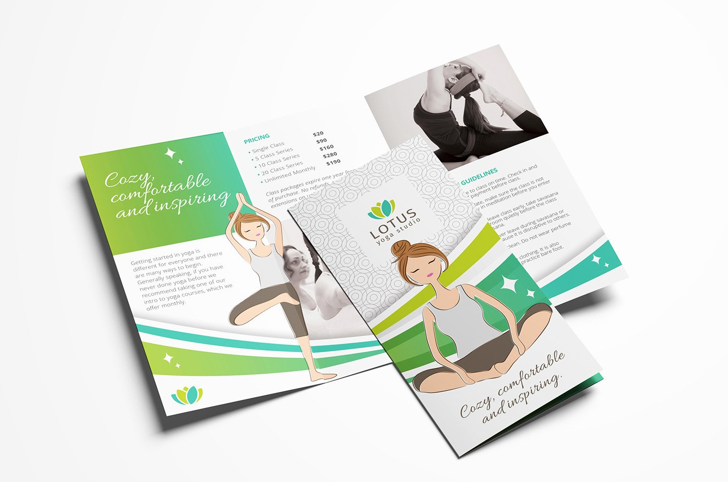 Trifold Brochure Template Photoshop Elegant Yoga Studio Tri Fold Brochure Template In Psd Ai & Vector