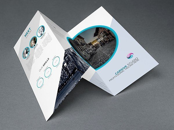 Trifold Brochure Template Photoshop Fresh Free Creative Trifold Brochure Template Psd Titanui