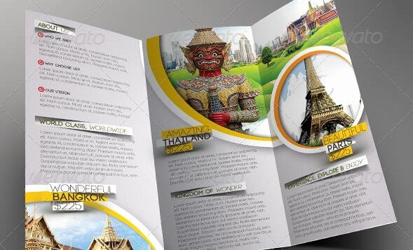 Trifold Brochure Template Photoshop Inspirational Free Shop Travel Brochure Template