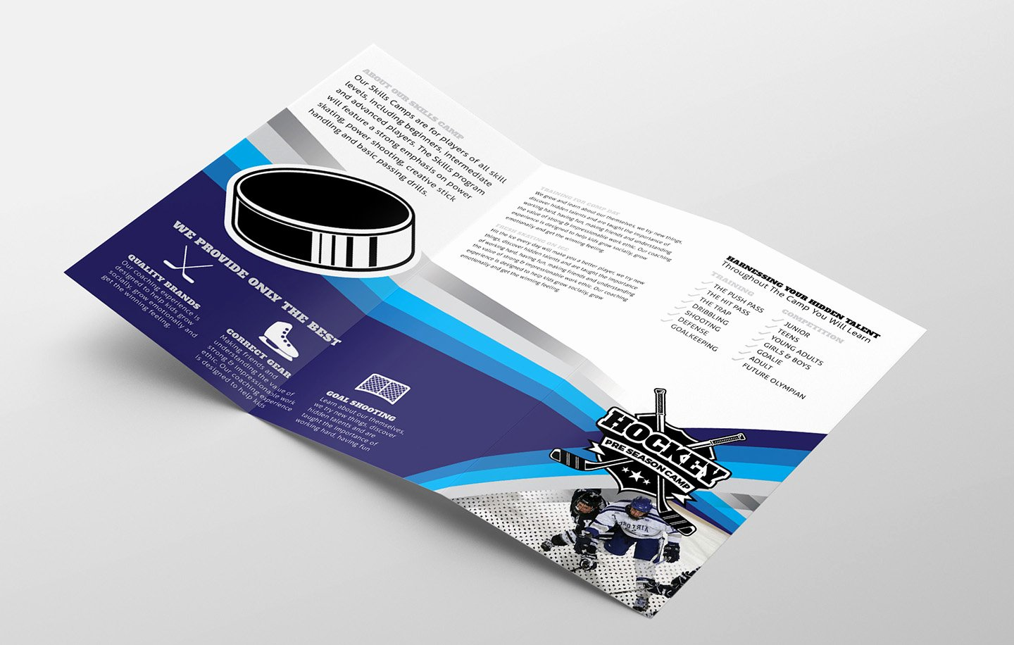 Trifold Brochure Template Photoshop Inspirational Hockey Club Tri Fold Brochure Template In Psd Ai & Vector