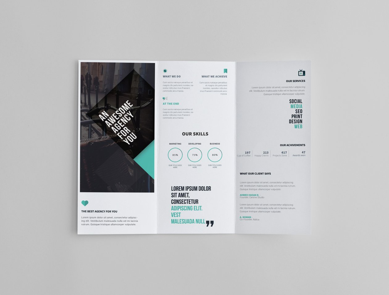Trifold Brochure Template Photoshop Lovely Tri Fold Brochure Template Psd Psd Mockups Shop