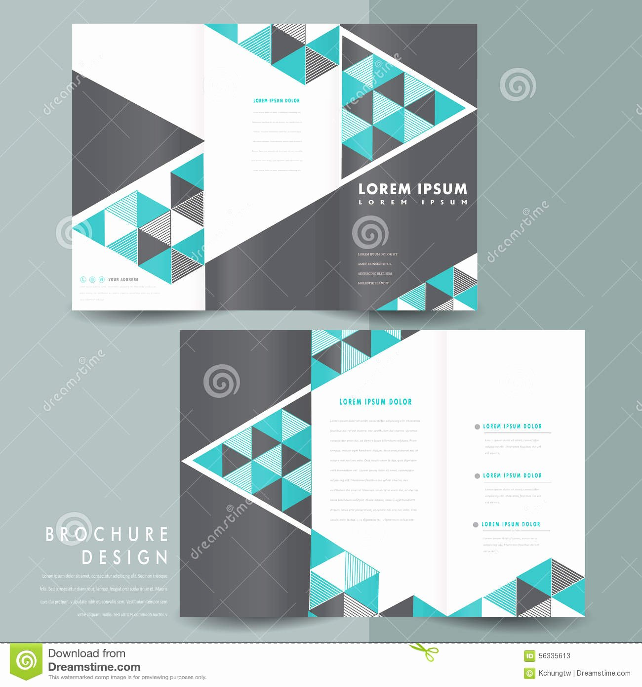 Trifold Brochure Template Photoshop New Tri Fold Brochure Template Shop Abstract Tri
