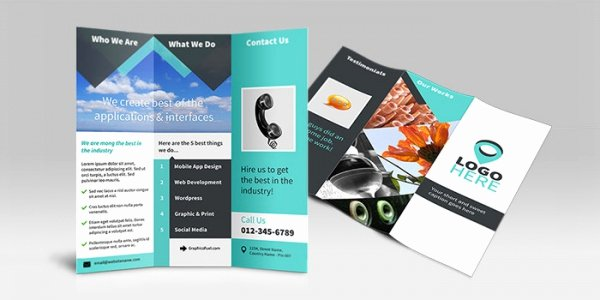 Trifold Brochure Template Photoshop New Tri Fold Brochure Template Shop Free Csoforumfo