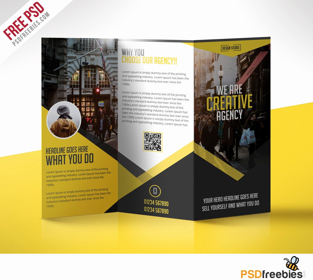 Trifold Brochure Template Photoshop Unique Multipurpose Trifold Business Brochure Free Psd Template