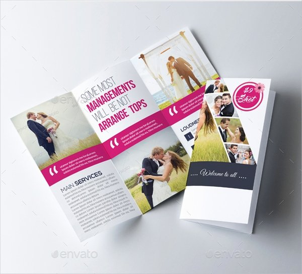 Trifold Wedding Program Template Awesome 25 Wedding Program Templates Free Psd Ai Eps format