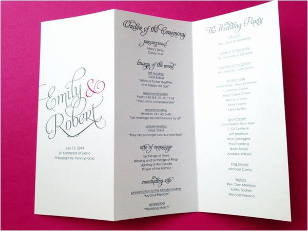 Trifold Wedding Program Template Beautiful Free Tri Fold Wedding Brochure Templates
