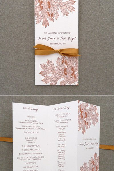 Trifold Wedding Program Template Best Of Program Template – Tri Fold Fall Leaves – Download & Print