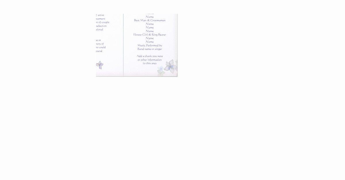 Trifold Wedding Program Template Inspirational Lavender Art Tri Fold Wedding Program Template Letterhead