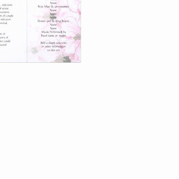 Trifold Wedding Program Template New Pink Hibiscus Tri Fold Wedding Program Templates