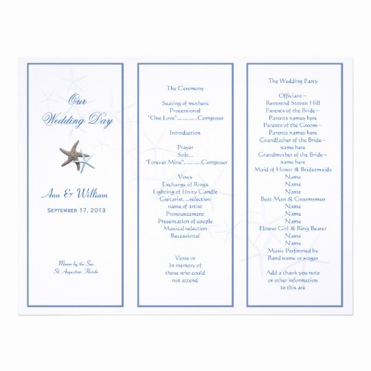 Trifold Wedding Program Template Unique Trifold Wedding Program Template Invitation Template